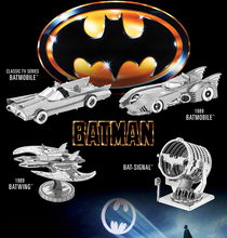 Pandamodel@Chinese EARTH 3D Metal Model Nano Puzzles BATMAN&SUPPER MAN 5 styles BAT SIGNAL/DAWN OF JUSTICE BATMOBILE(China)