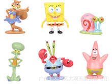 Anime Figure PVC Cute SpongeBob Figures 6pcs/lot 3-6cm Classic Toys For Christmas Gift(China)