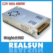 New 12V 40A 480W Switch Power Supply Driver Switching For LED Strip Light Display 110V 220V