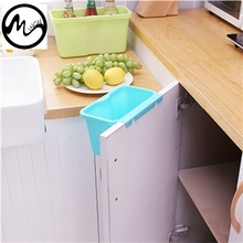 Minch Square Kitchen Cabinet Simple Mini Trash Storage Box Organizers Garbage Holder Portable Hang Type Garbage Can(China)
