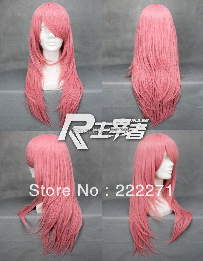 Free Track Anime Katekyo Hitman Reborn Bianchi Cosplay Costume Pink Wig  Heat Resistant  Cap<br><br>Aliexpress