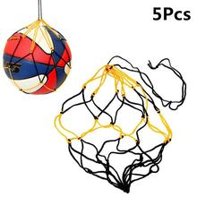5pcs Nylon portable Net Bag Ball Carrying Mesh Net Bag for Training Basketball  Soccer Football Volleyball Holder carry Net