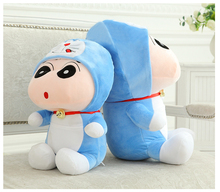1Pcs 35cm Crayon Shin Chan Mascot Plush toy  Viking Stuffed Doll Hat Can Take Off Best Gifts for Children