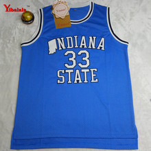 2017 Dwayne Mens College Cheap Basketball Jerseys #33 Larry Bird Jersey Indiana State Sycamores Retro Stitched Basketball Shirt