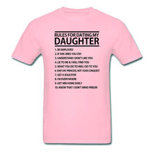 RULES FOR DATING MY DAUGHTER FUNNY MENS T-SHIRT MANY COLOR TEES FATHERS DAY GIFT(China)