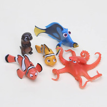 NEW hot 5pcs/set 3-5cm Finding Nemo Marlin collectors action figure toys Christmas gift doll