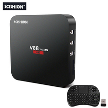 SCISHION V88 Plus Android TV Box 4K 2G+8G Android 5.1 Quad-core Rockchip 3229 WiFi Support VP9 H.265 Set Top Box Mini PC V88 Pro