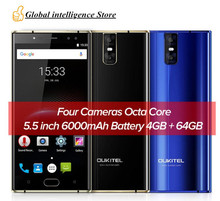 "Original Oukitel K3 Mobile Phone MT6750T Octa Core 4GB RAM 64GB ROM 5.5""FHD 16MP 4 CAMERAS Fingerprint 6000mAh OTG SmartPhone"