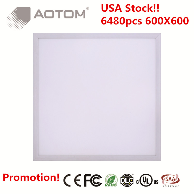 Promotion USA STOCK!! 6pcs/Lot Square LED Panel 600x600 40W 100-240/277V AC Dimmable Drop Ceiling Recessed LED Panel Light 2x2(China (Mainland))