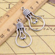 10pcs Charms Light Bulb 19*35mm Tibetan Silver Plated Pendants Antique  Jewelry Making DIY Handmade Craft