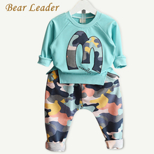 Bear Leader Kids Clothing Sets 2016 Brand Winter Suits Girls Clothes Sweatshirts+Camouflage Pants 2pcs Camouflage sports suits