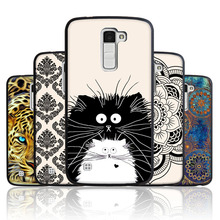 Buy CaseRiver Black Soft Silicone FOR LG K10 Case Cover Printed Drawing Phone Back Protective FOR LG K10 Lte K420N K430DS Case for $1.10 in AliExpress store