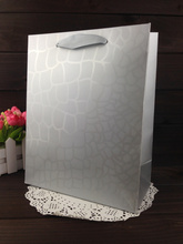 Wholesale 100PCS/LOT Silver With Film Paper Gift Bag 7 Size Included Free Design Print LOGO