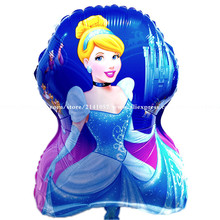New Arrival 30pcs/lot shape princess foil balloon cinderella mylar ballon high quality princess baloes helium globos for girls