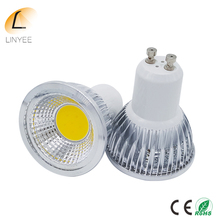 Cree COB 3W Dimmable LED Lamp GU10 Lampada LED Bulb 120 Angle AC 110-240V Spotlight 3W Spot light GU 10 Warm/Nature White
