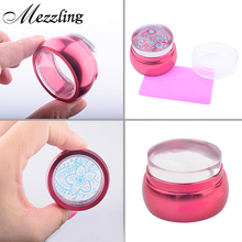 3.5cm New Lovely Chess Design Silicone Jelly Nail Art Stamper Scraper with Cap Red Handle Nail Stamp Stamping Tools