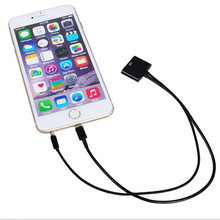 8 pin to 30 pin 3.5mm Audio Charger Adapter Cable For iPhone 6 6s Plus 5 5S SE ipad Mini Air 2 to iphone 4 4S ipod Dock Station