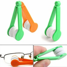 5 pcs 2016 new hot sales Useful Nice Mini Sun Glasses Eyeglass Colorful Microfiber Cleaner Brush