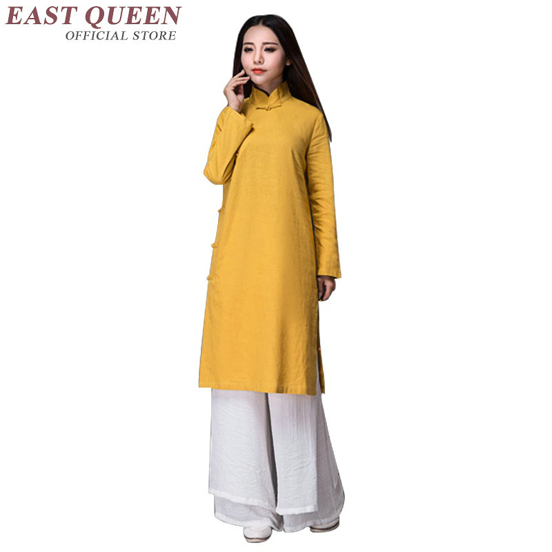 New Arrival cotton and linen sexy Chinese dresses oriental style dresses long linen dresses women linen clothing AA1854 Q