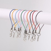 High Quality 7cm 100 Pcs 10 Colors to Choose Cell Phone Lanyard Cords Strap Lariat Mobile Lobster Clasp Mobile Phone cord