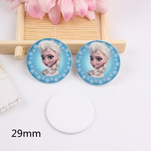 10pcs/lot Kawaii flat back resin fashion girl with snowflower planar resin cabochons accessories(China)