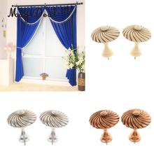 MagiDeal Vintage European Curtain Tie Back Hook Wall Clothes Hanger Sunblind Pothook Clasp One Pair(China)