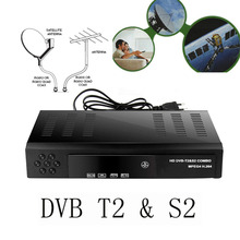 2017 Satellite receiver HD Digital DVB T2+S2 TV Tuner Receivable MPEG4 DVB-T2 TV Receiver T2 Tuner Free Shipping Support bisskey(China)