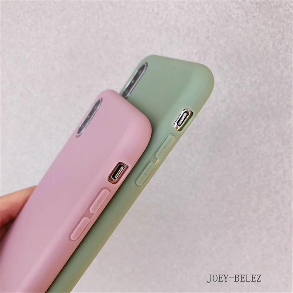 Matte Phone Cases For iPhone 7 Candy Case For iPhone X 7 6 6S 8 Plus 6 6S Case Cover XR XS MXA Coque Silicon Fundas Capa Carcasa05