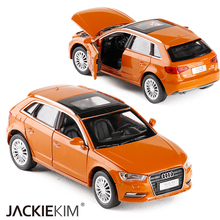 New 1:32 Audi A3 Alloy Diecast Car Model Toy With Pull Back Toy Electronic Car classical For Kids Toys Gifts(China)