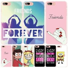 best friend forever lovers couple cell phone Cover case for iphone 6 4 4s 5 5s SE 5c 6 6s 7 plus case for iphone 7