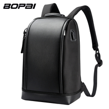 BOPAI Brand USB External Charge Backpack Computer Bag Shoulders Anti-theft Backpack 17 inch Waterproof Laptop Backpack for Men(China)