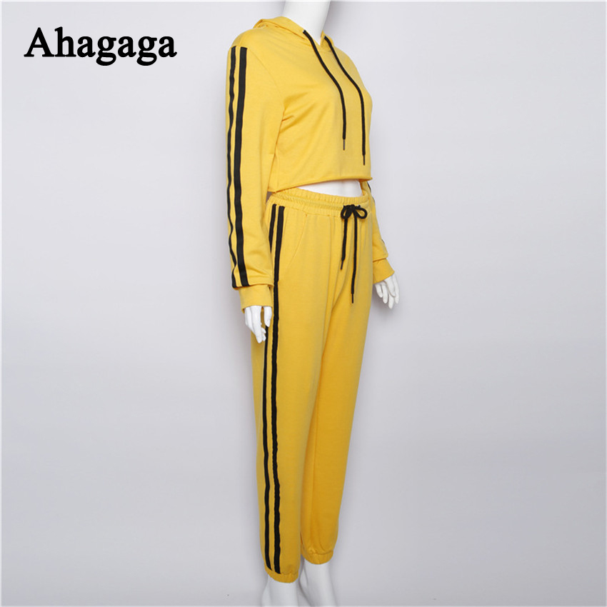 Women's Tracksuits Set, Casual Hooded Sweatsuit Set 34