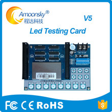Amoonsky led unit module testing card for led display repair and test card AMS-V5 easy use simple operation(China)