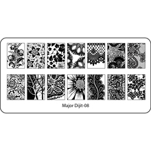 Stainless Steel Nail Art Stamping Plates Template Image Manicure Nail Art Tool Twig Maple Leaf Sunflower Beehive Design Dijit-08