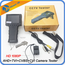 New cctv Portable 4 in 1 AHD+TVI+CVBS+CVI Camera Tester 1080P CCTV Tester 3.5 Inch LCD Video Test 5V/12V Power Output Cable Test