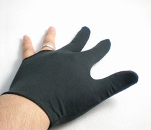 NEW 1pcs black Pool snooker Billiard table glove 3-finger shooter One size fits all 52