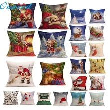 OC 12 Mosunx Business 2016 Hot Selling Drop Shipping  Christmas Cartoon Decoration Festival Pillow Case Cushion Cover