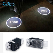2pcs LED Car Door Warning Light For VW Logo Projector Laser Ghost Shadow Lamp For VW Passat B5 B5.5 Phaeton Touareg