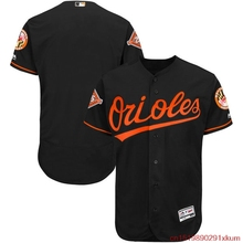 MLB Men's Baltimore Orioles Baseball Black Alternate Authentic Collection On-Field Flex Base Jersey with Anniversary Patch(China)