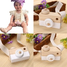 New Baby Kids Wood Camera Toys Children Fashion Clothing Accessory Safe And Natural Toys Birthday Educationa Toy Gift LA891777(China)