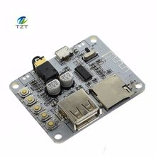 Bluetooth Audio Receiver board with USB TF card Slot decoding playback preamp output A7-004 5V 2.1 Wireless Stereo Music Module(China)