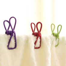 10Pcs/lot Metal Clothes Clamps Clothes Laundry Hangers Strong Grip Washing Line Pin Pegs Clips Laundry Products Housekeeper
