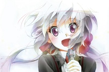 senki zesshou symphogear chris yukine anime girl face microphone KA977 living room home modern art decor wood frame poster(China)