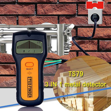 TS79 3 1 Stud Finder Wire Metal Wood Detectors AC Voltage Live Wire Detect Wall Scanner Finder LCD Display