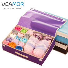 VEAMOR Brand Bra Organizer Storage Drawers Underwear Storage Boxes Non-woven Covered Bra Combo Grid Wardrobes Organizers B211