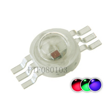 50pcs High Power LED Chip 3W RGB LED COB Beads 3 W Light Lamp 6 pin Full Color Red Green Blue For DIY LED Floodlight Spotlight(China)