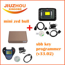 2017 DHL Delivery Auto Key Programmer PRO OBD2 Transponder Silca SBB V33.02 & Mini Zed Bull V508 key programmer car key maker(China)