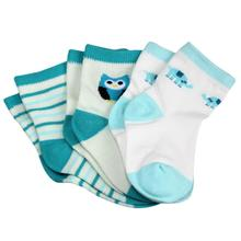 3 Pairs Newborn Baby Stocks Fashion Hot Print Socks Baby Boy Girl Sock Casual Warm Cotton Blend Infant Sock(China)