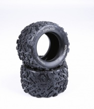 1/8 scale Rovan Torland MONSTER BRUSHLESS RC TRUCK PARTS tires TORLAND Knobby tyres - pair 313011(China)