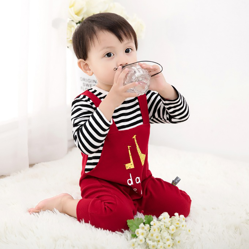 peninsula baby new autumn winter Christmas baby rompers soft keep warm thick cotton baby jumpsuit carton baby overalls winter<br>